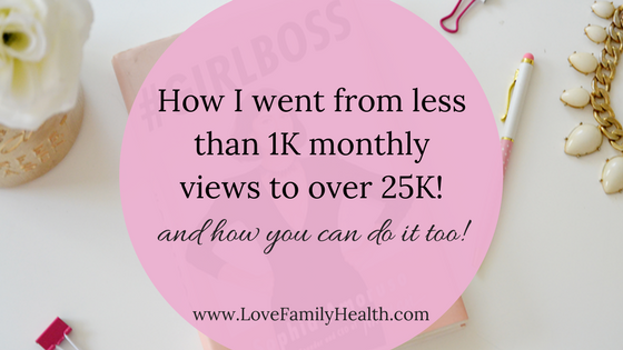How I went from less than 1K monthly views to over 25K! And how you can do it too!