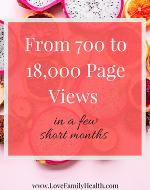 From 700 to 18,000 Page Views in a Few Short Months