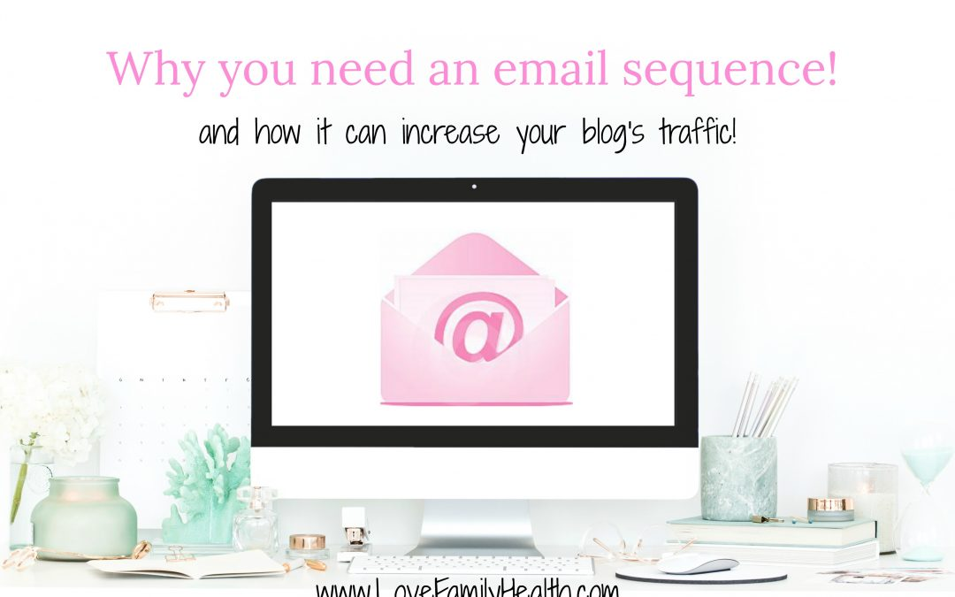Why you need an email sequence in your life! And how it can increase your blog's traffic!