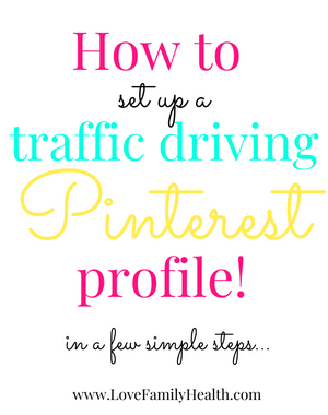 How to set up a traffic driving, Pinterest profile!